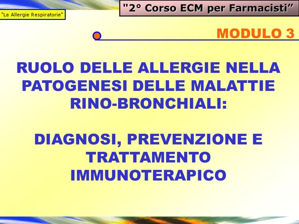 RUOLO DELLE ALLERGIE NELLA PATOGENESI DELLE MALATTIE RINO-BRONCHIALI: