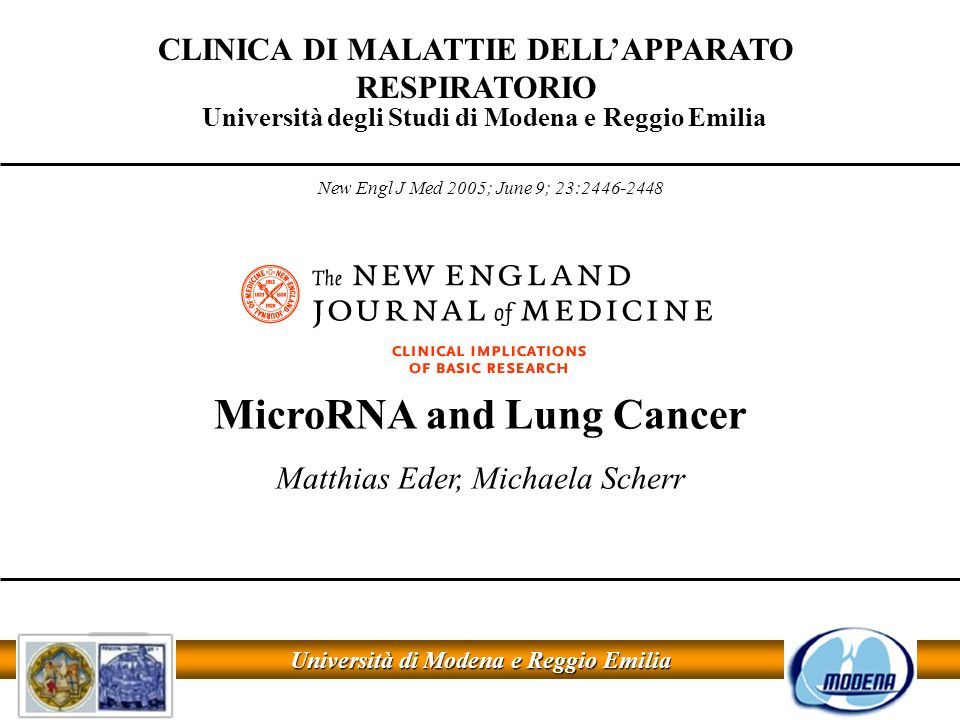 MicroRNA and Lung Cancer