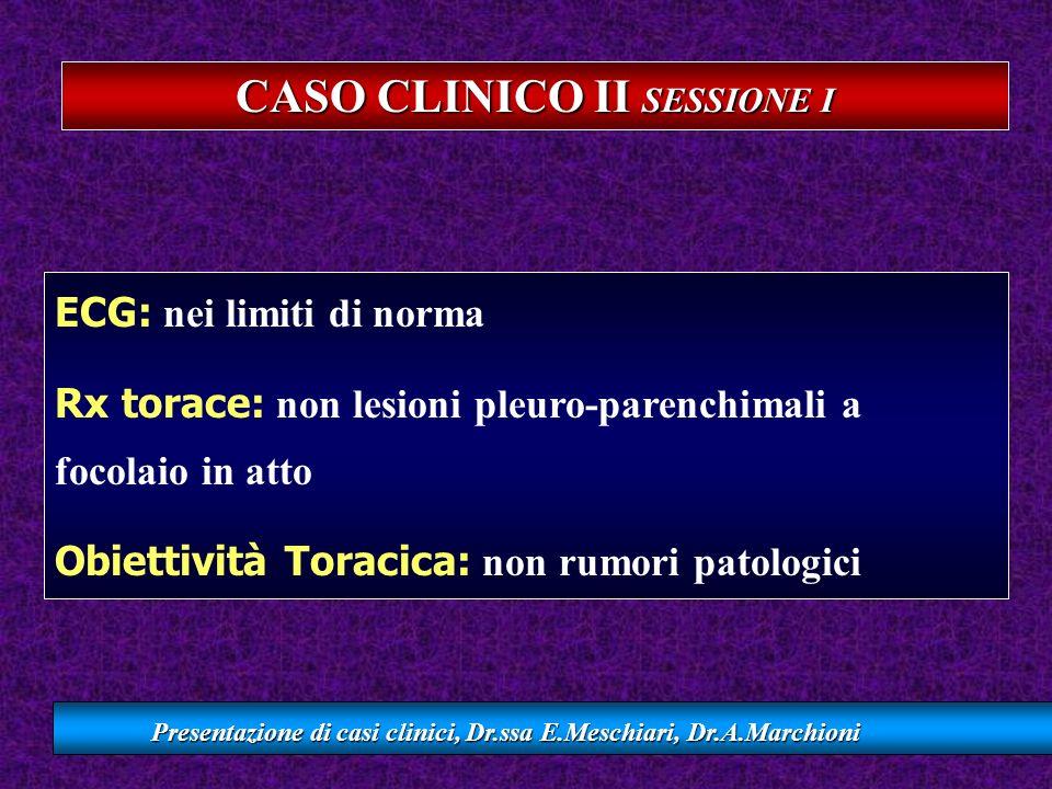 CASO CLINICO II SESSIONE I