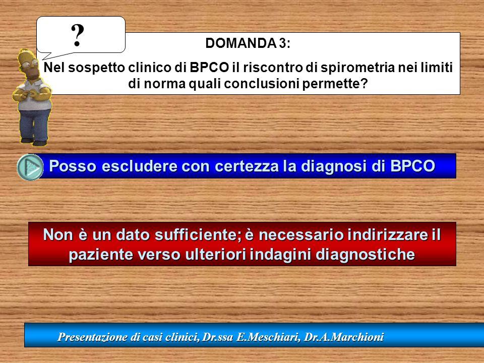 Posso escludere con certezza la diagnosi di BPCO