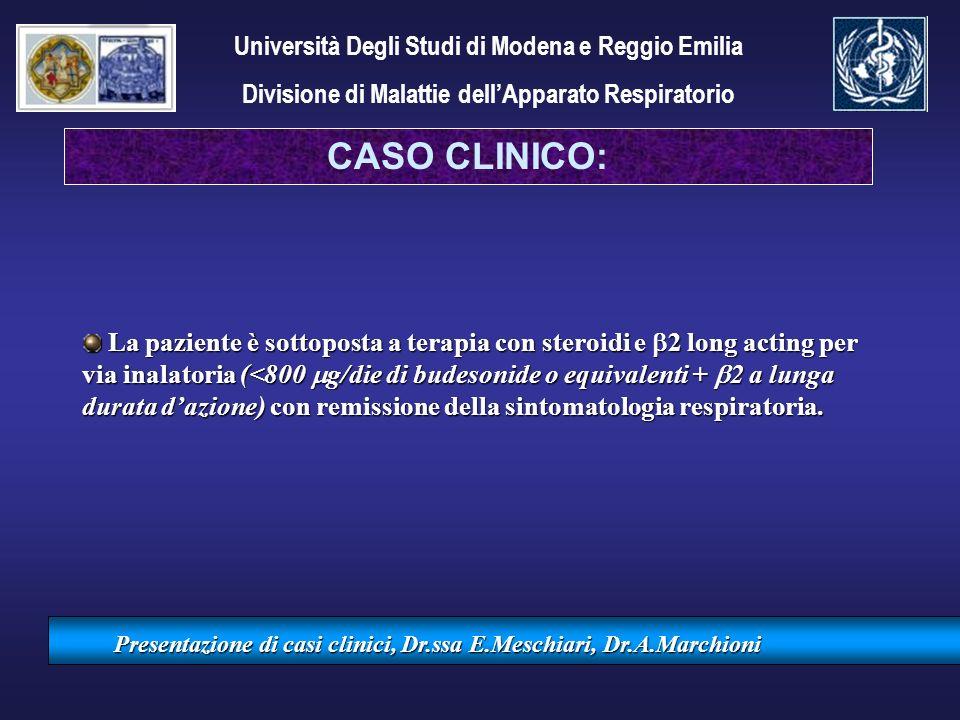 CASO CLINICO: Università Degli Studi di Modena e Reggio Emilia