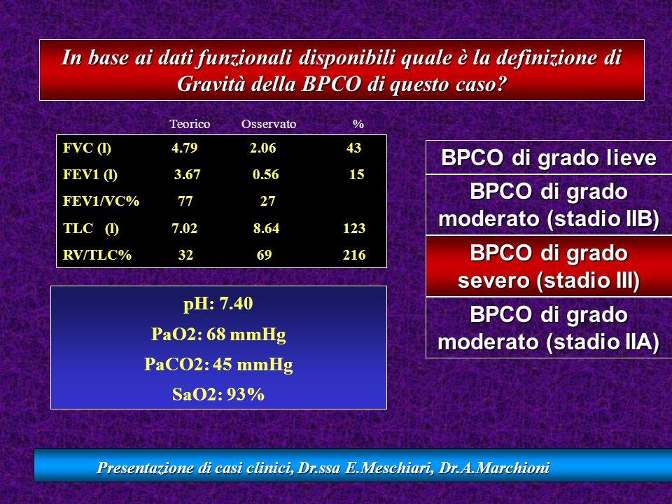 pH: 7.40 PaO2: 68 mmHg PaCO2: 45 mmHg SaO2: 93%