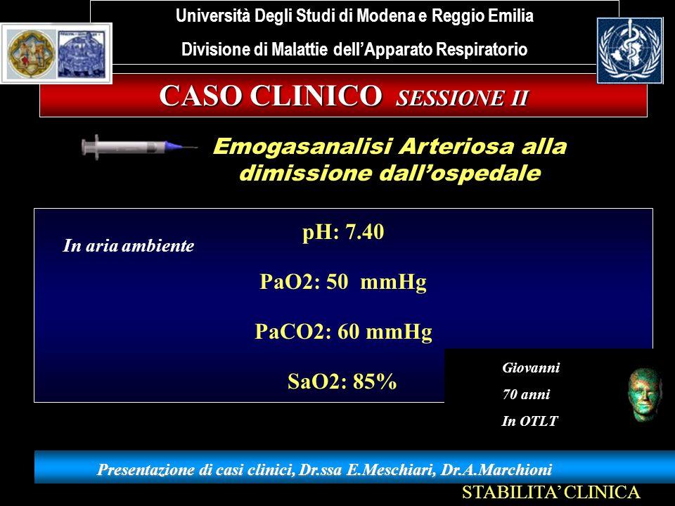 CASO CLINICO SESSIONE II
