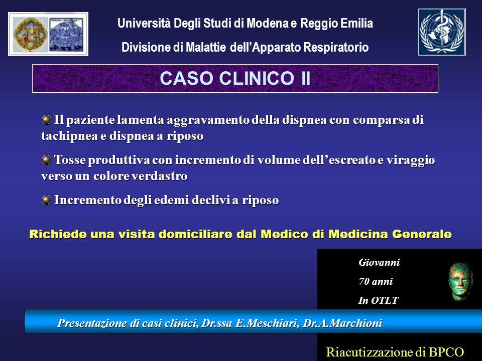 CASO CLINICO II Università Degli Studi di Modena e Reggio Emilia