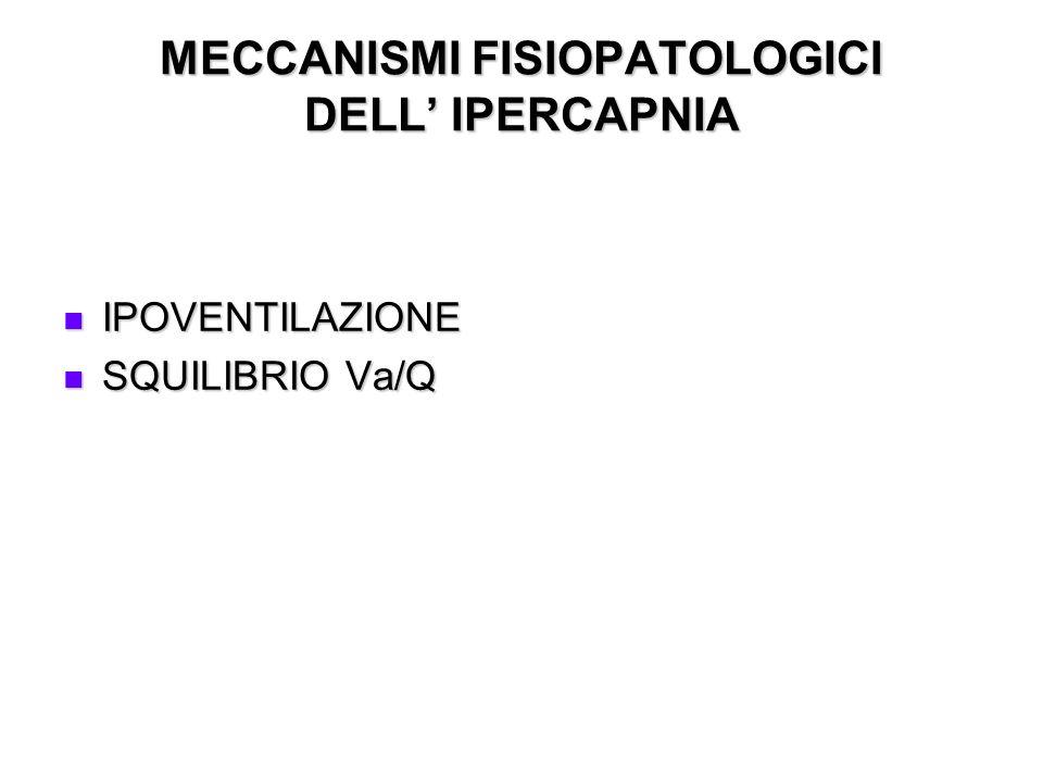 MECCANISMI FISIOPATOLOGICI DELL' IPERCAPNIA