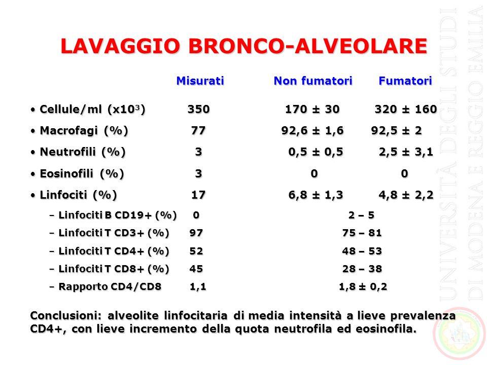 LAVAGGIO BRONCO-ALVEOLARE