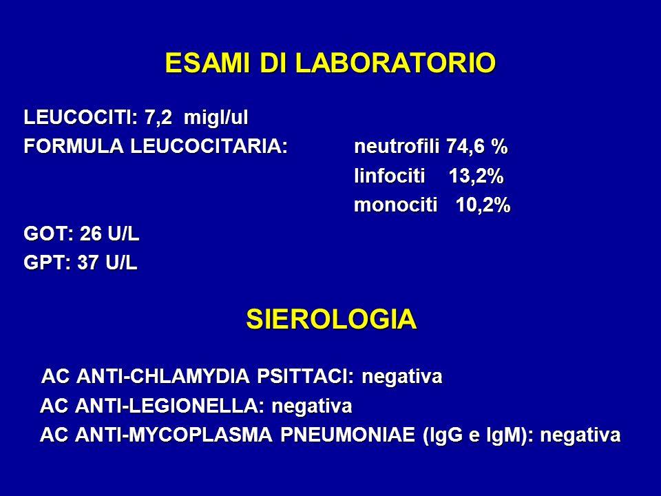 ESAMI DI LABORATORIO SIEROLOGIA