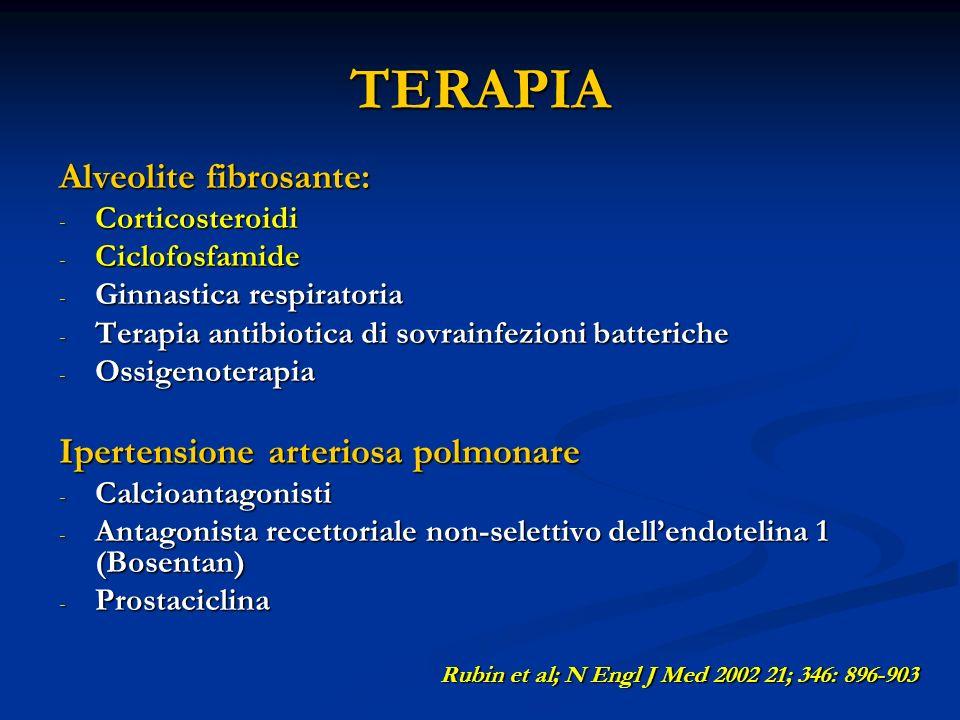 TERAPIA Alveolite fibrosante: Ipertensione arteriosa polmonare