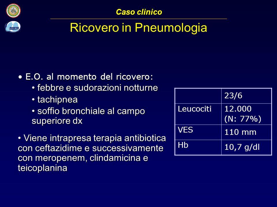 Ricovero in Pneumologia