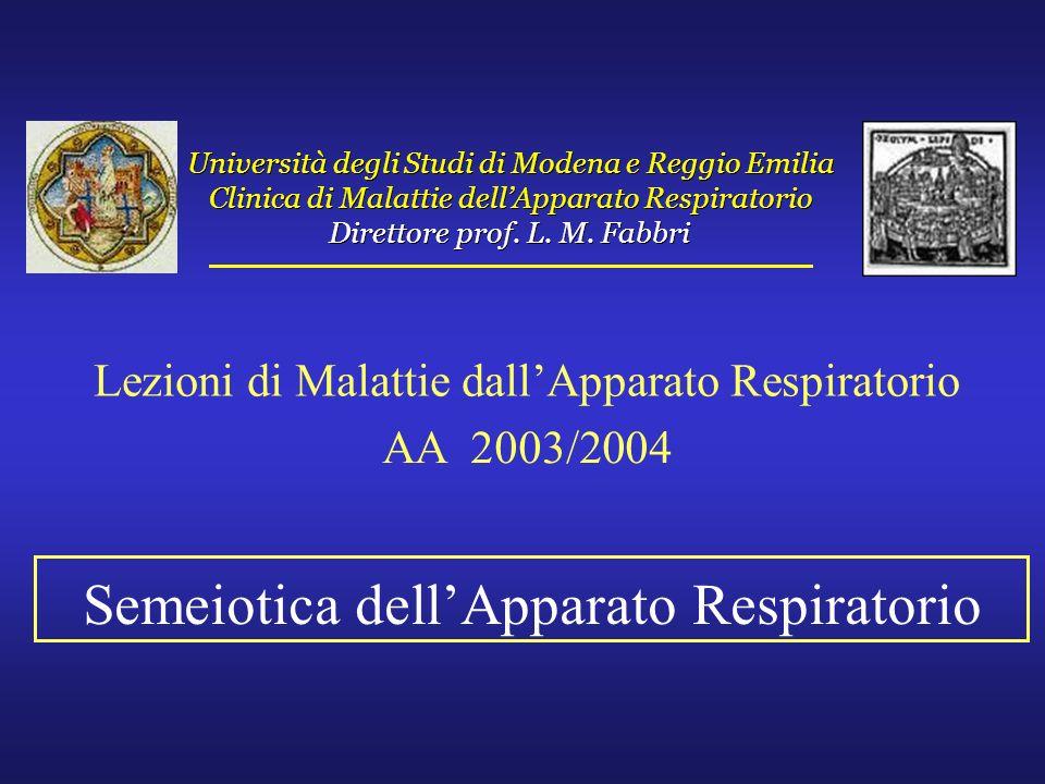 Semeiotica dell'Apparato Respiratorio