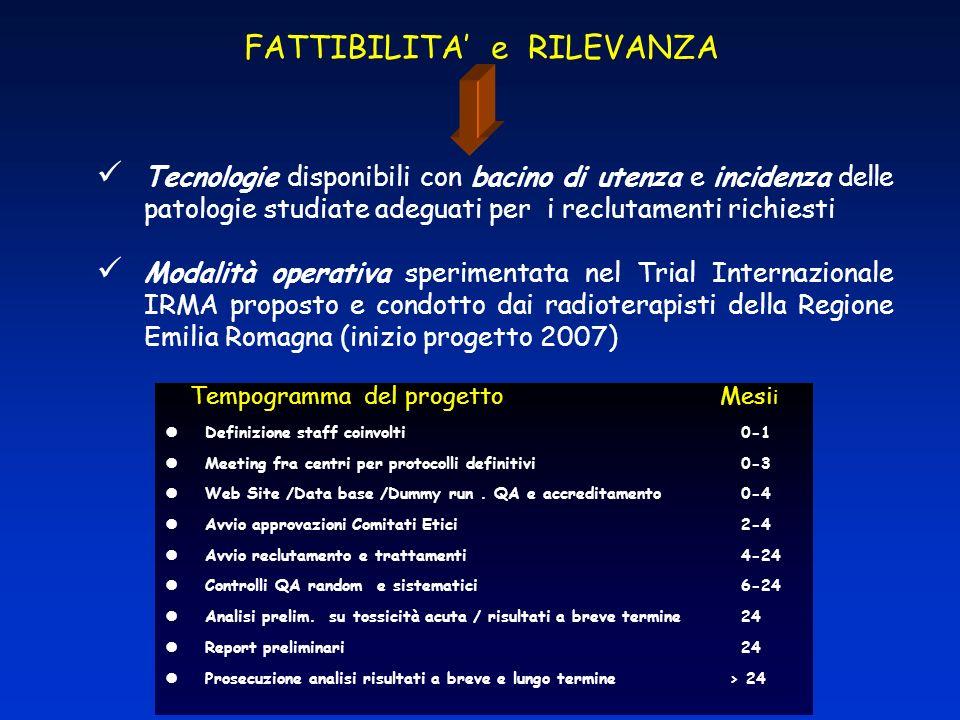 FATTIBILITA' e RILEVANZA