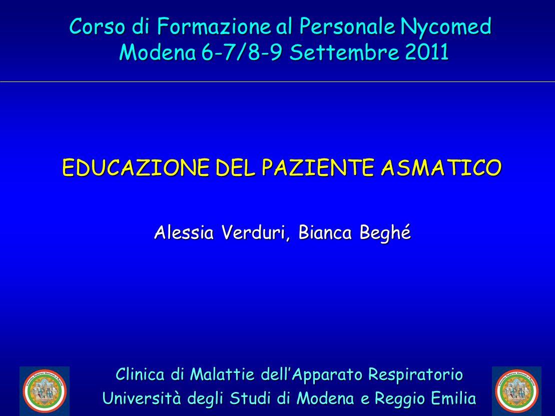 Corso di Formazione al Personale Nycomed Modena 6-7/8-9 Settembre 2011