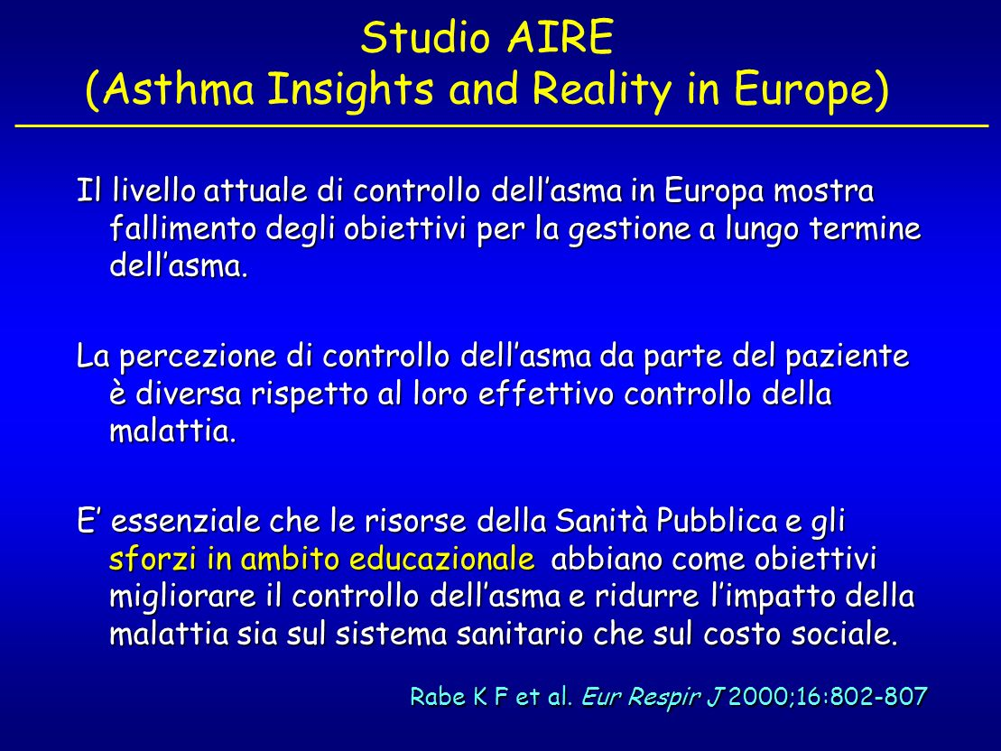 Studio AIRE (Asthma Insights and Reality in Europe)
