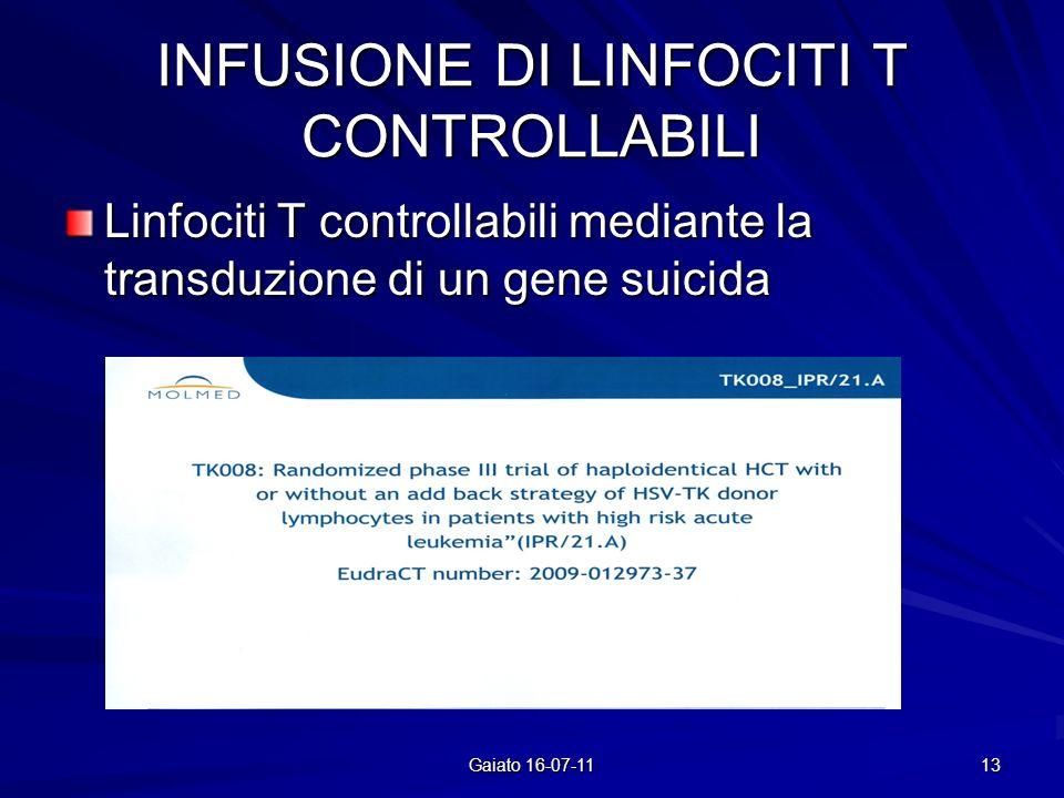 INFUSIONE DI LINFOCITI T CONTROLLABILI