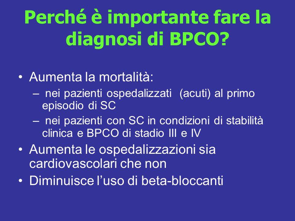 Perché è importante fare la diagnosi di BPCO
