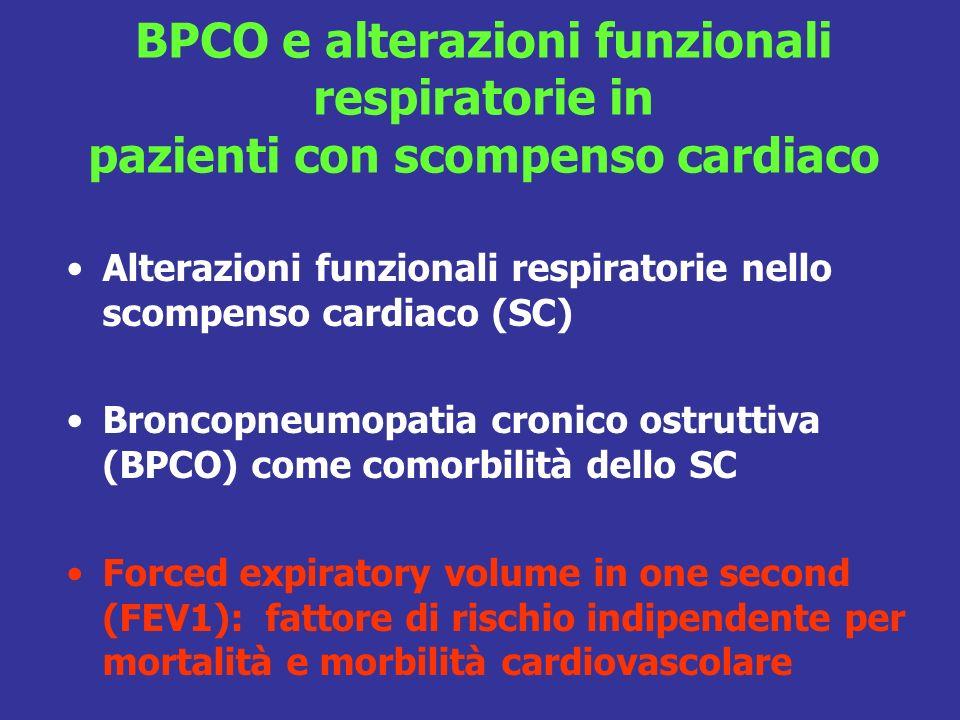 BPCO e alterazioni funzionali respiratorie in pazienti con scompenso cardiaco
