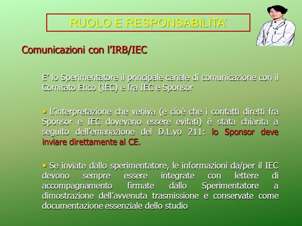 RUOLO E RESPONSABILITA'