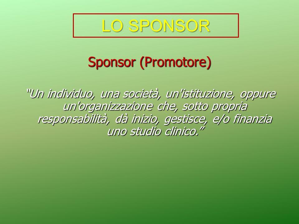 LO SPONSOR Sponsor (Promotore)