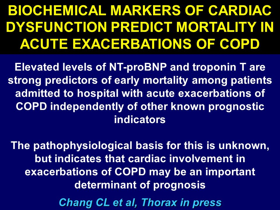 Biochemical Markers of Cardiac Dysfunction Predict Mortality in