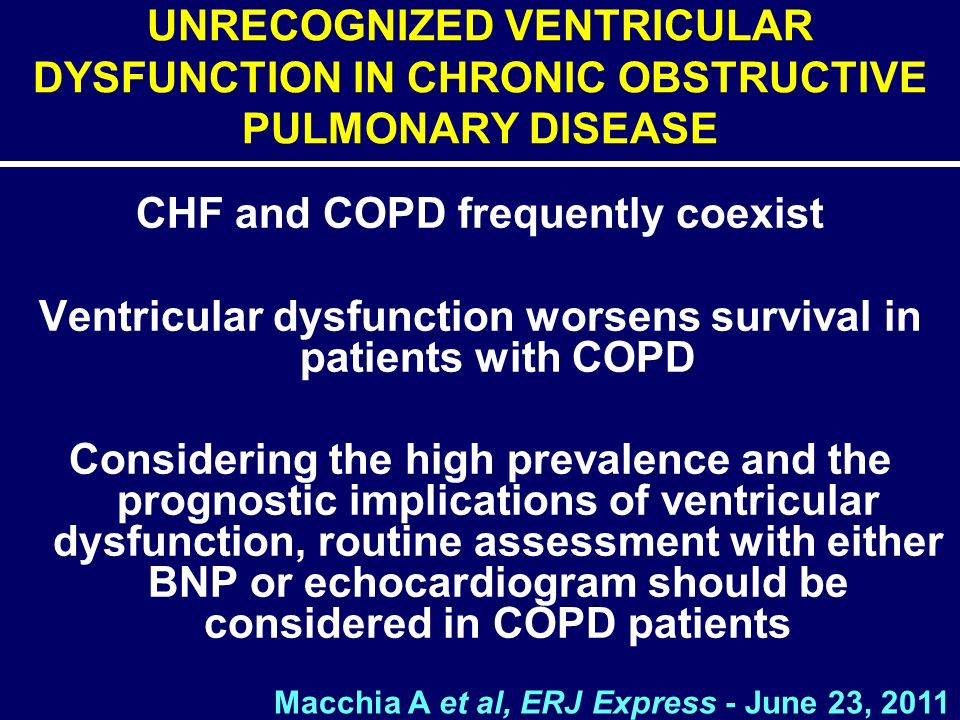 CHF and COPD frequently coexist