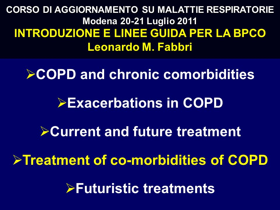 COPD and chronic comorbidities Exacerbations in COPD