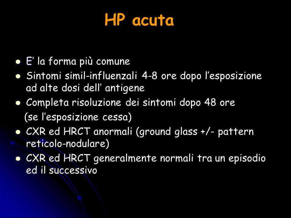 HP acuta E' la forma più comune