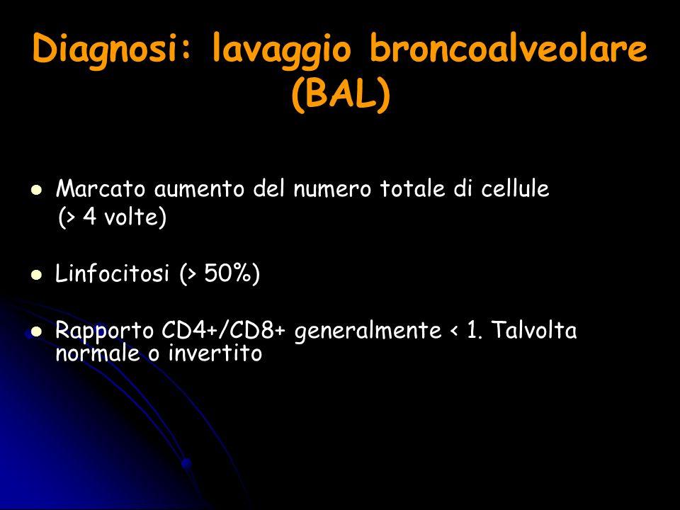 Diagnosi: lavaggio broncoalveolare (BAL)