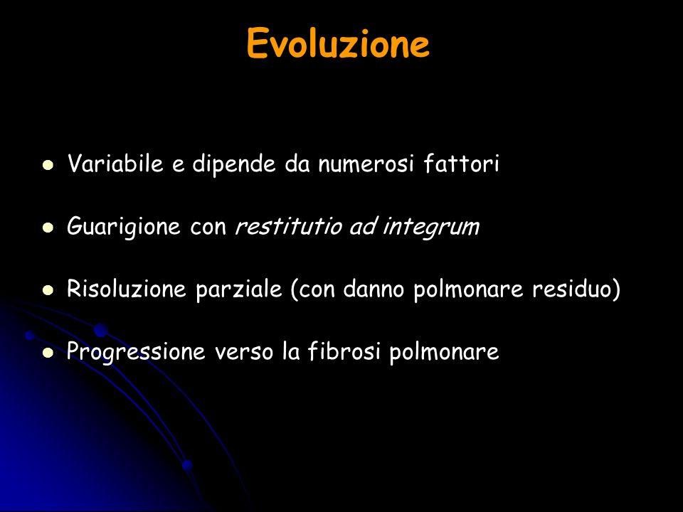 Evoluzione Variabile e dipende da numerosi fattori