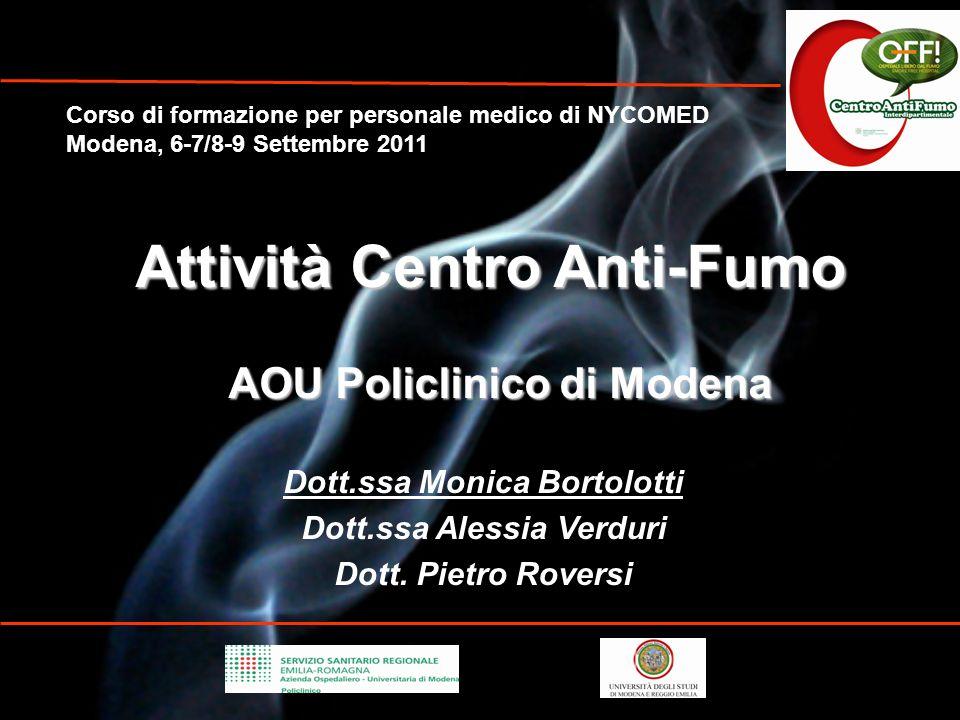 Attività Centro Anti-Fumo