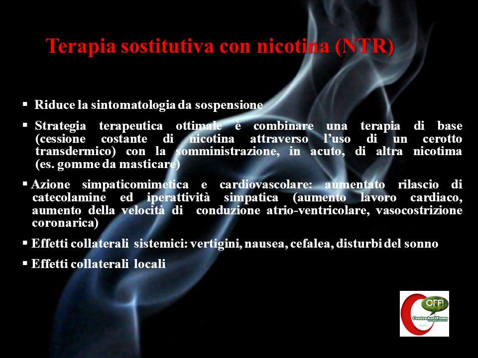 Terapia sostitutiva con nicotina (NTR)