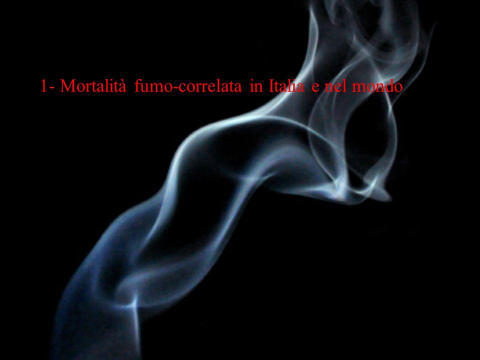 1- Mortalità fumo-correlata in Italia e nel mondo