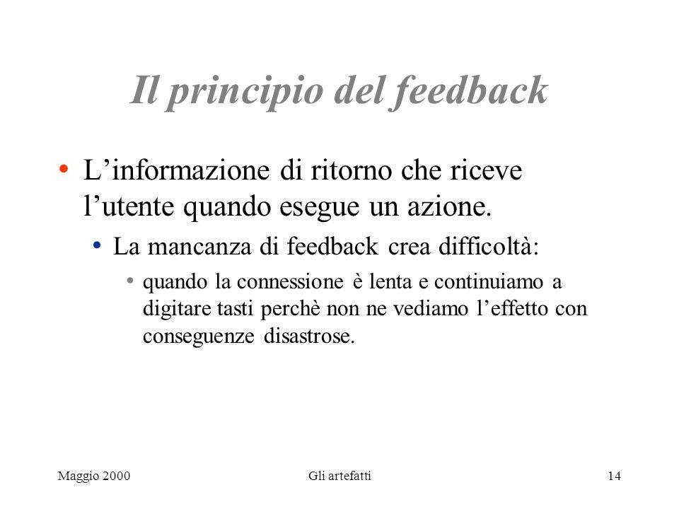 Il principio del feedback
