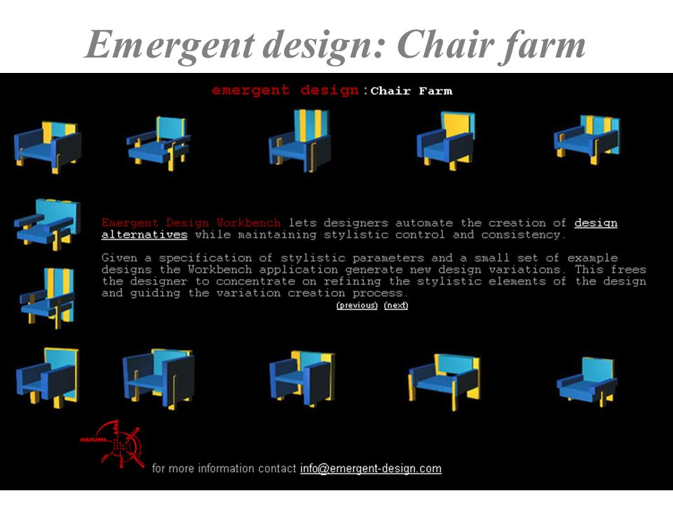 Emergent design: Chair farm