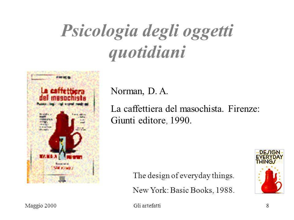 Psicologia degli oggetti quotidiani