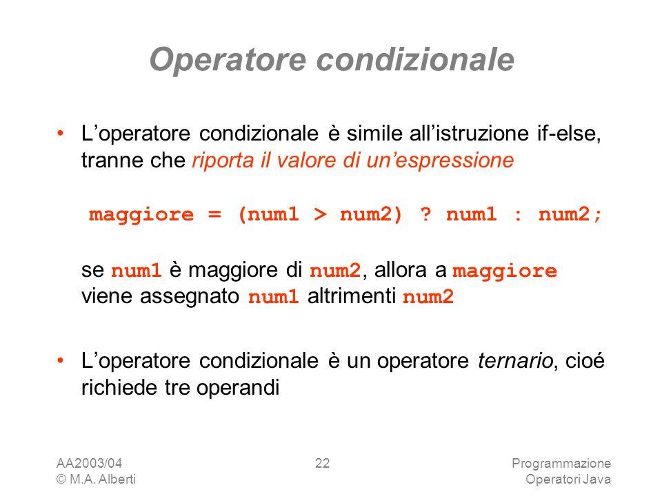 Operatore condizionale