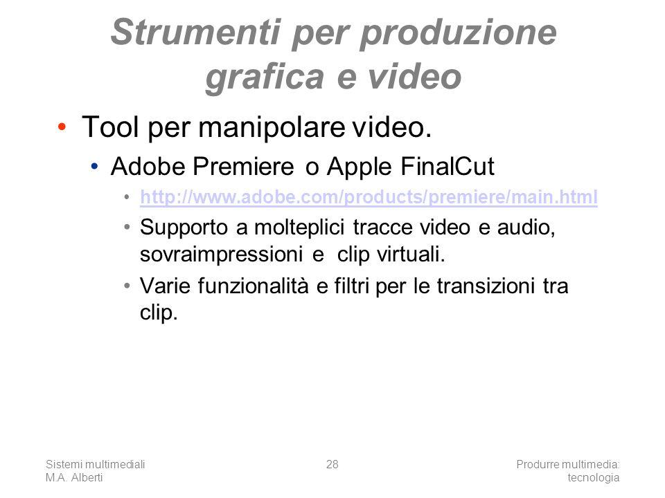 Strumenti per produzione grafica e video