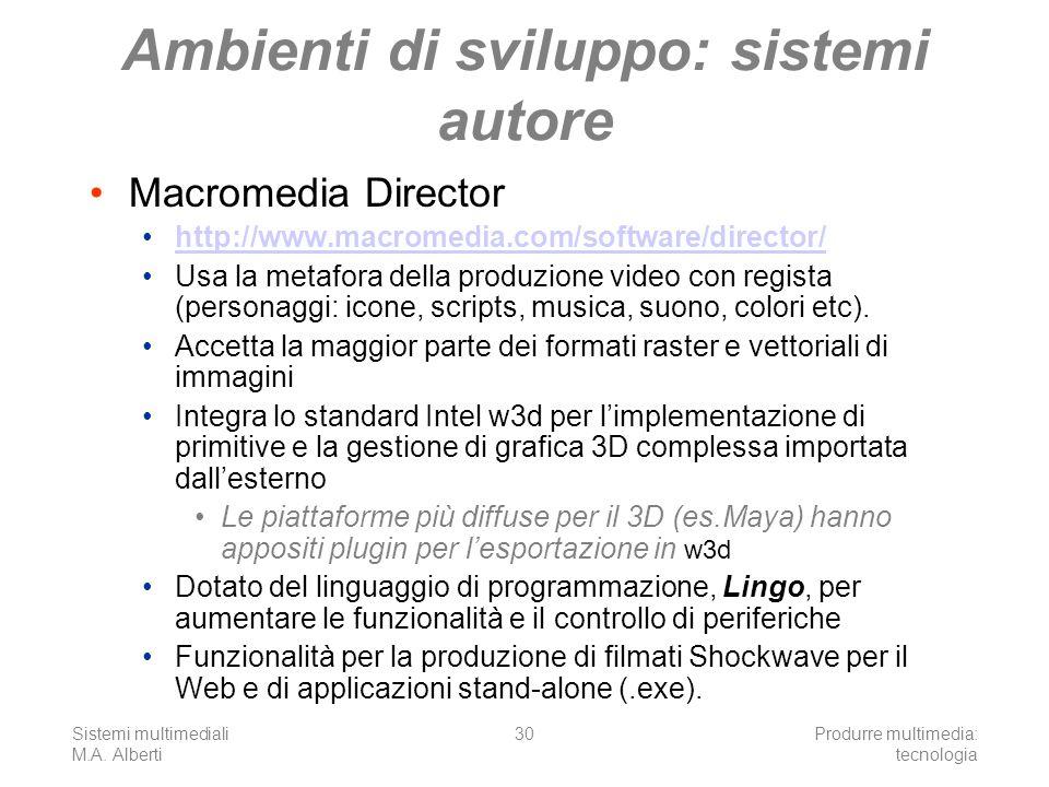 Ambienti di sviluppo: sistemi autore