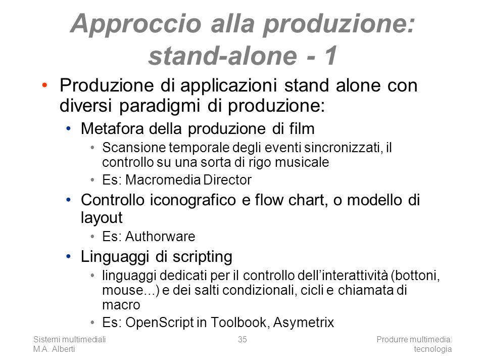 Approccio alla produzione: stand-alone - 1