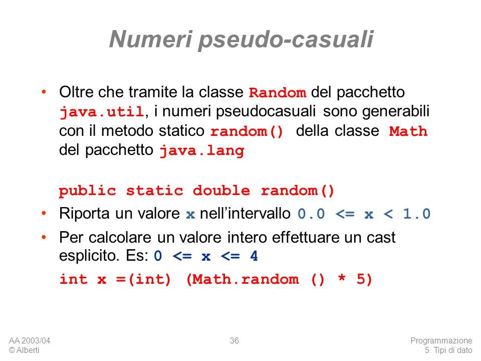 Numeri pseudo-casuali