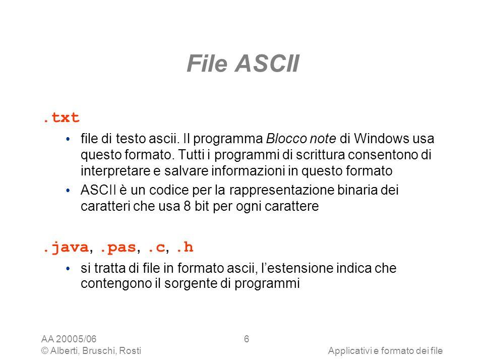 File ASCII .txt .java, .pas, .c, .h