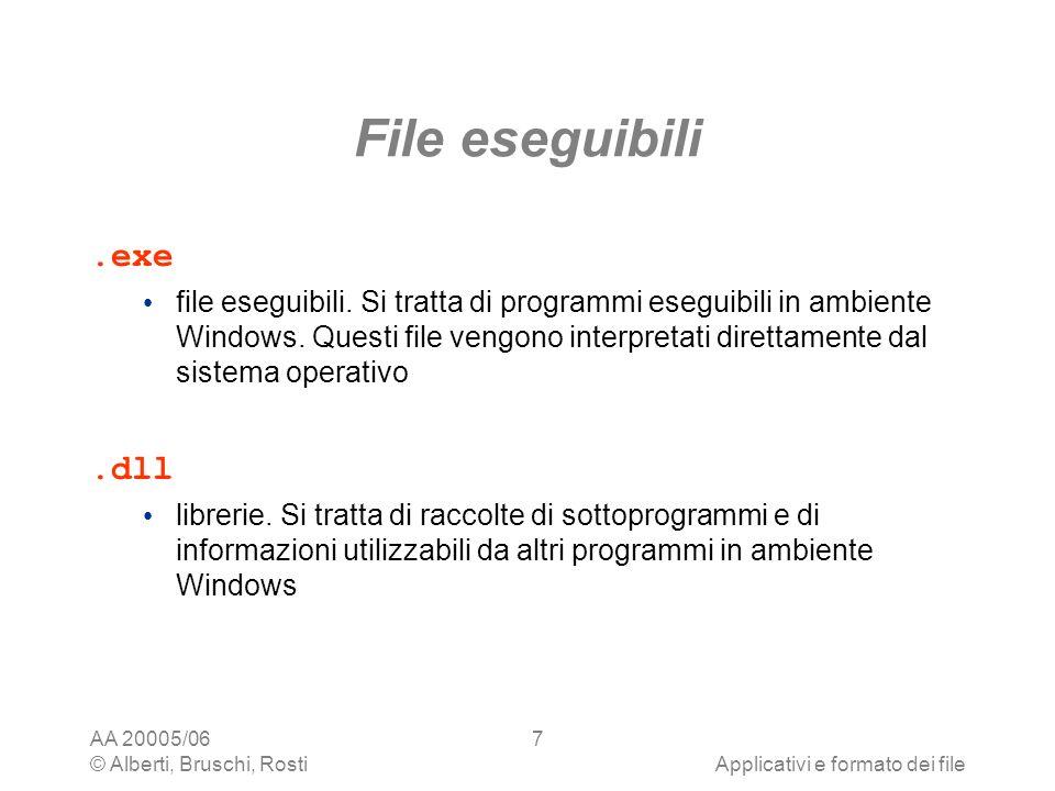 File eseguibili .exe .dll