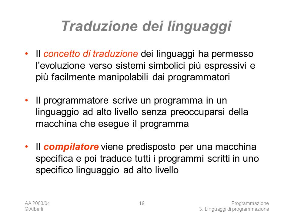Traduzione dei linguaggi