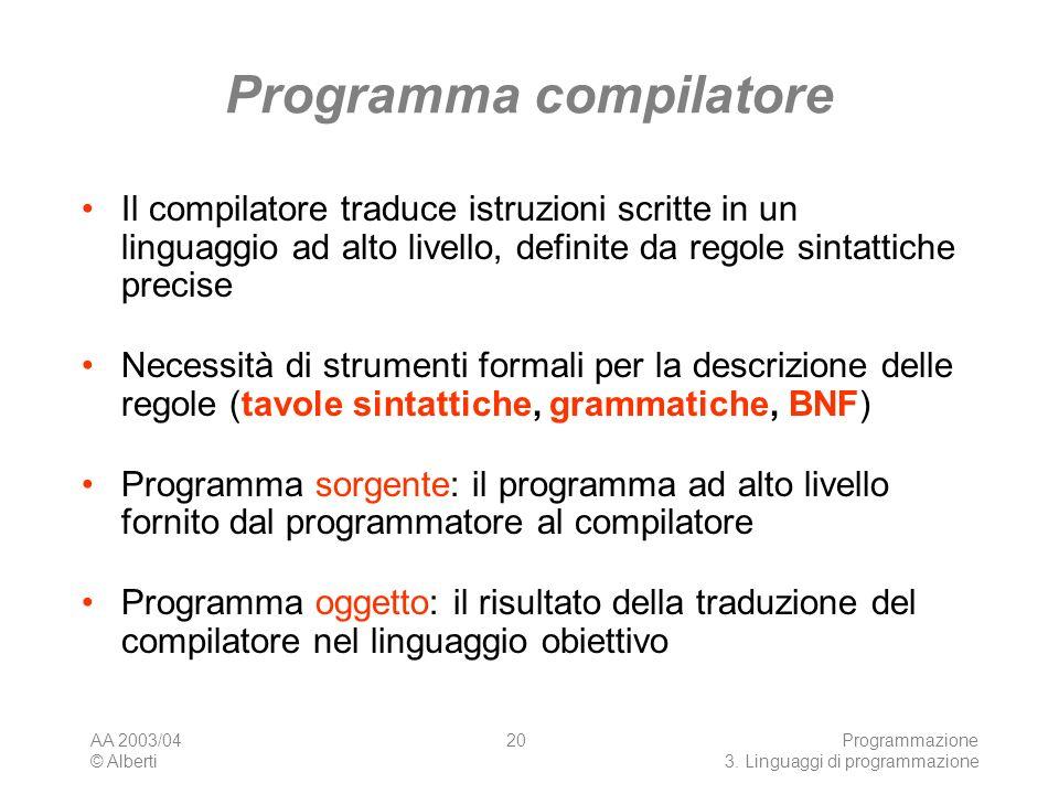 Programma compilatore