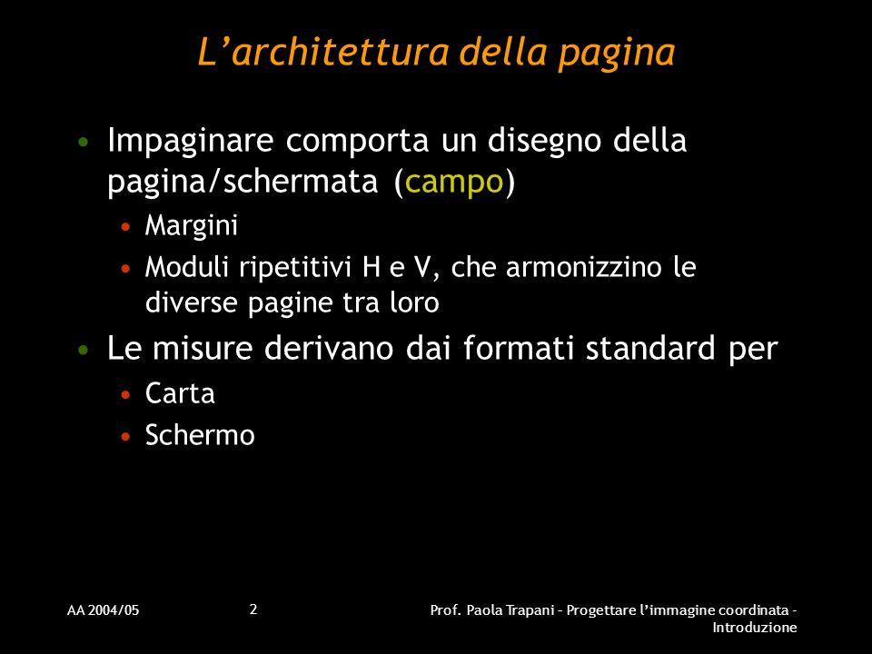 L'architettura della pagina