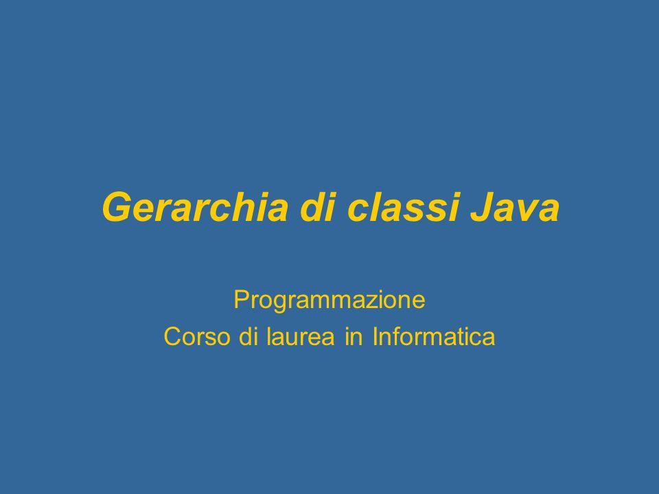 Gerarchia di classi Java