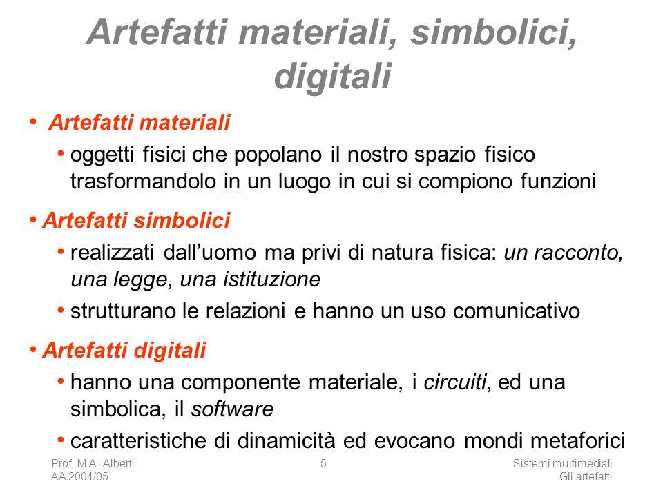 Artefatti materiali, simbolici, digitali