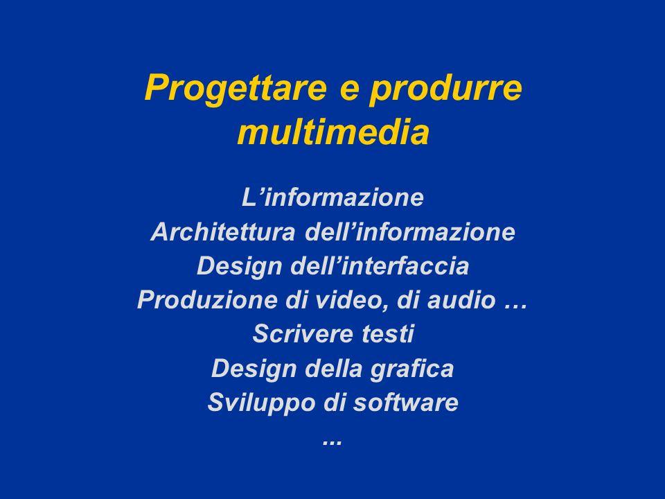 Progettare e produrre multimedia