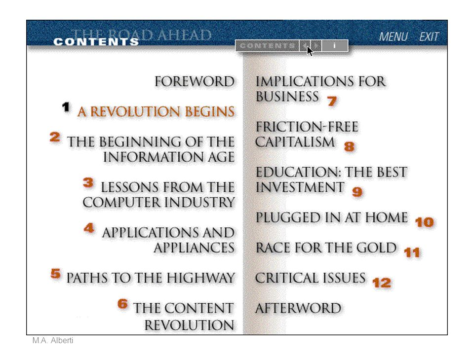Da The road ahead, CD-ROM del libro di Bill Gates
