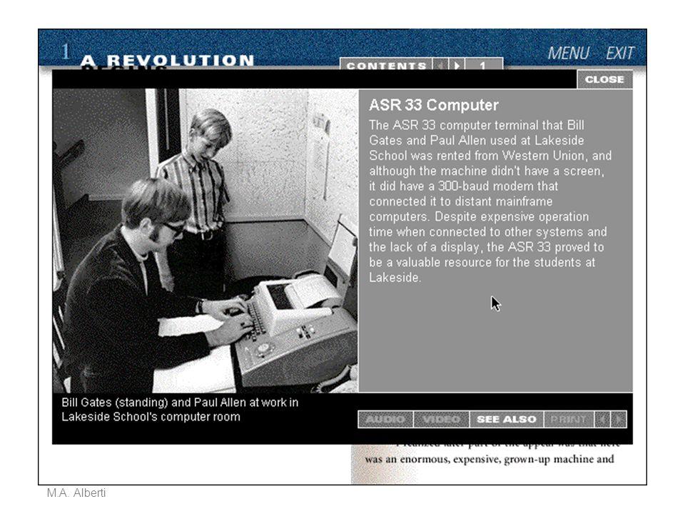 Sistemi multimediali M.A. Alberti Produrre multimedia