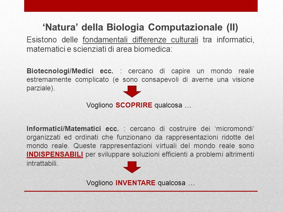 'Natura' della Biologia Computazionale (II)